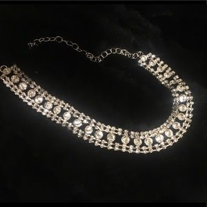 Rhinestone Statement Choker Necklace